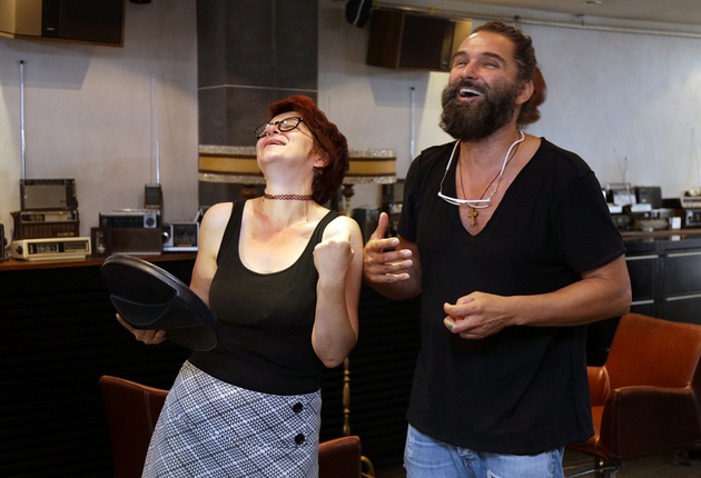 Jelena Pantović i Miki Panjković frizer