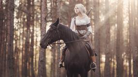 Piękna Ciri z Wiedźmina w wykonaniu Very Leto i konia Igły