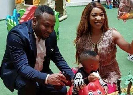 Tonto Dikeh expresses joy as her new man accompanies her to son's graduation