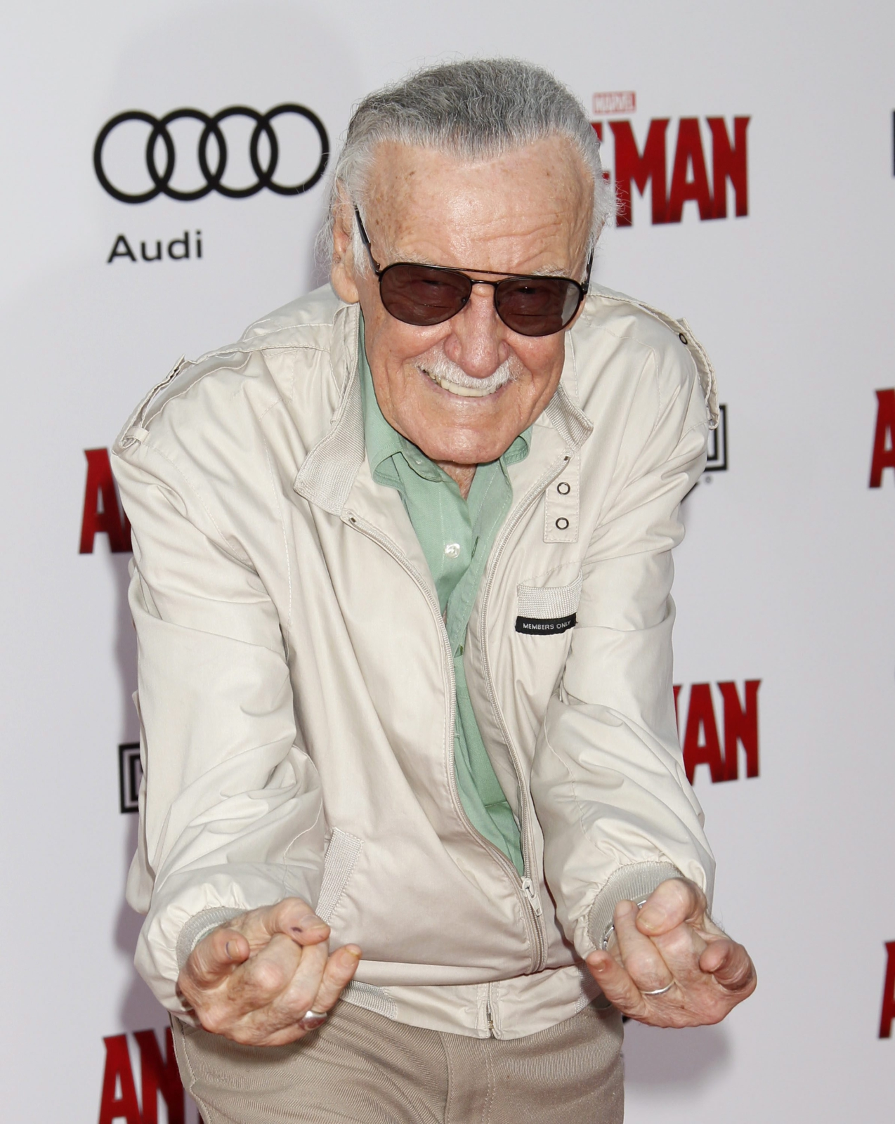 Producent Stan Lee na premierze
