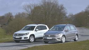 Volkswagen Tiguan kontra Volkswagen Golf Sportsvan
