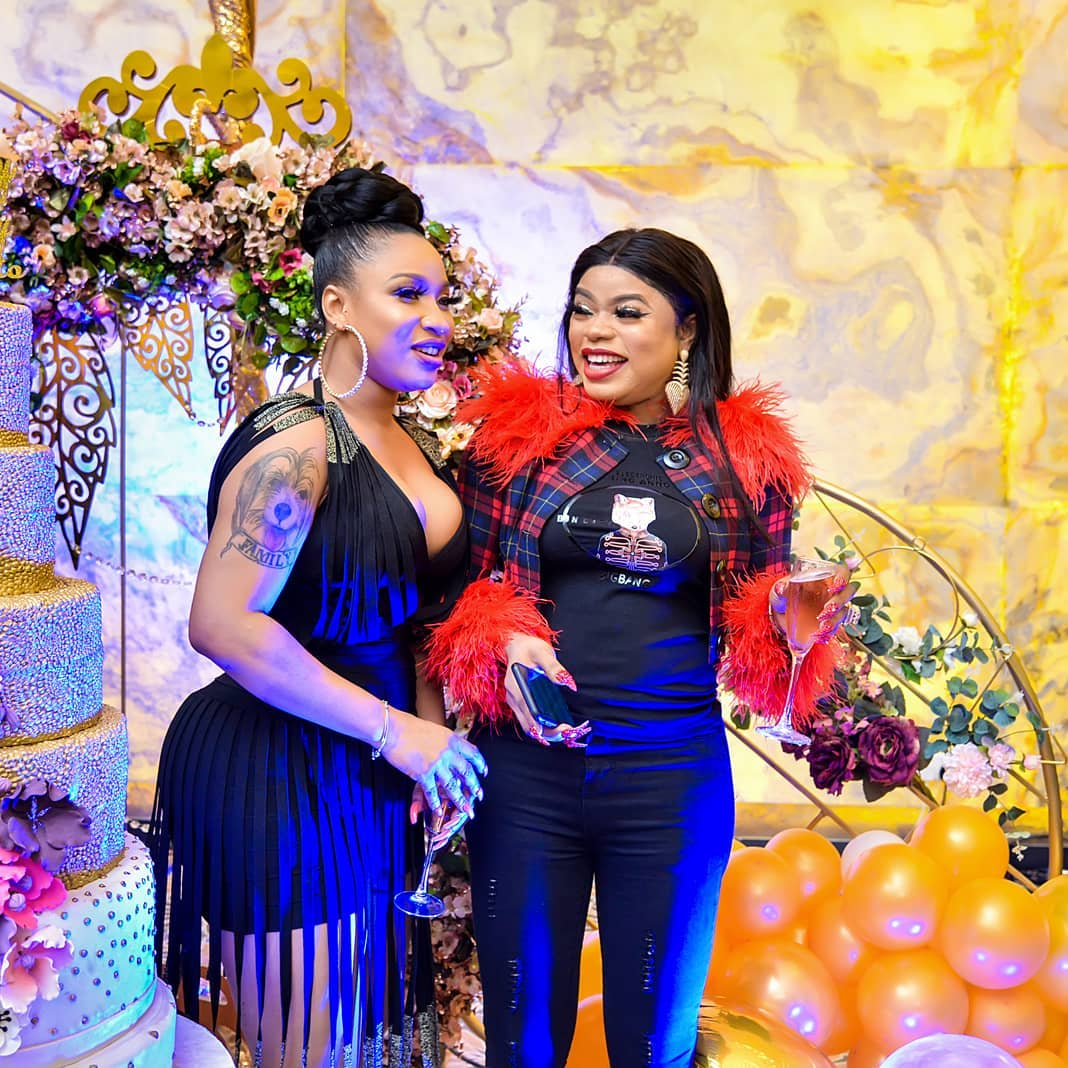 Tonto Dikeh advices Bobrisky on what to do with birthday party cake | Pulse  Nigeria