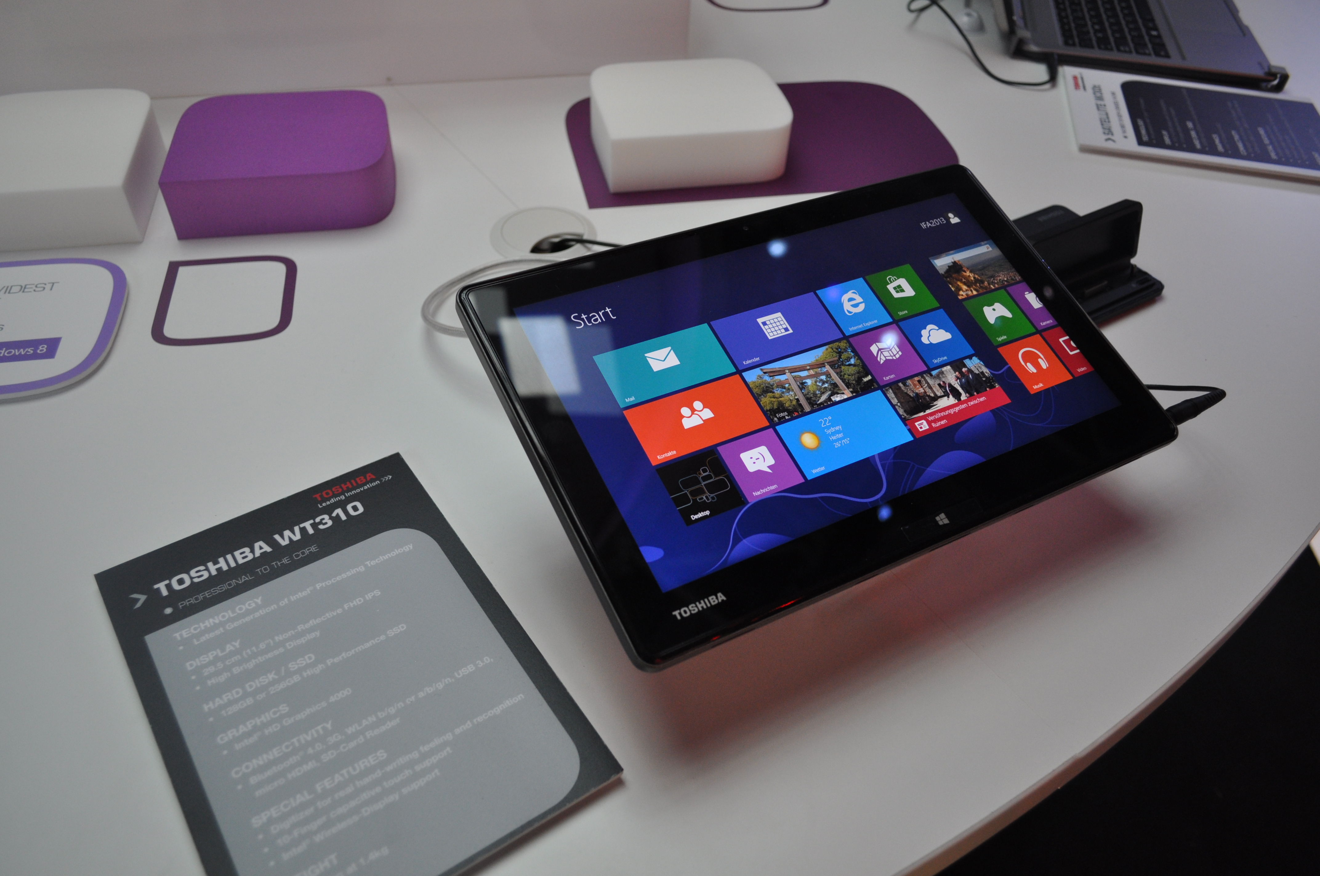 Tablet Toshiby oparty na Windows 8