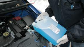 Test zimowych płynów do spryskiwaczy