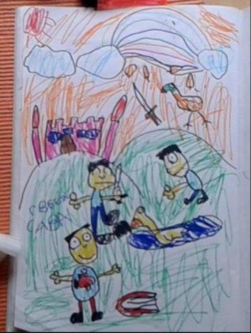 Deca crtaju Svetog Savu