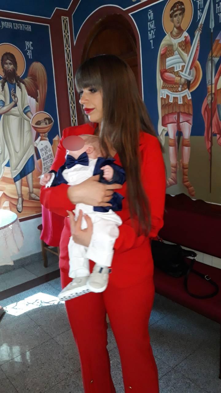 Miljana sa sinom Željkom