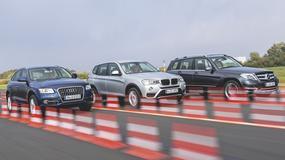 SUV-y z oszczędnymi dieslami - Audi Q5 kontra BMW X3 i Mercedes GLK