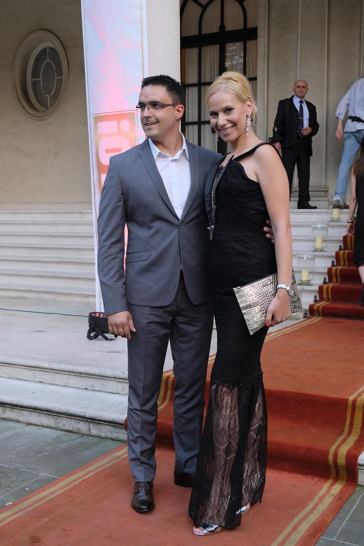 Marija Veljković sa suprugom