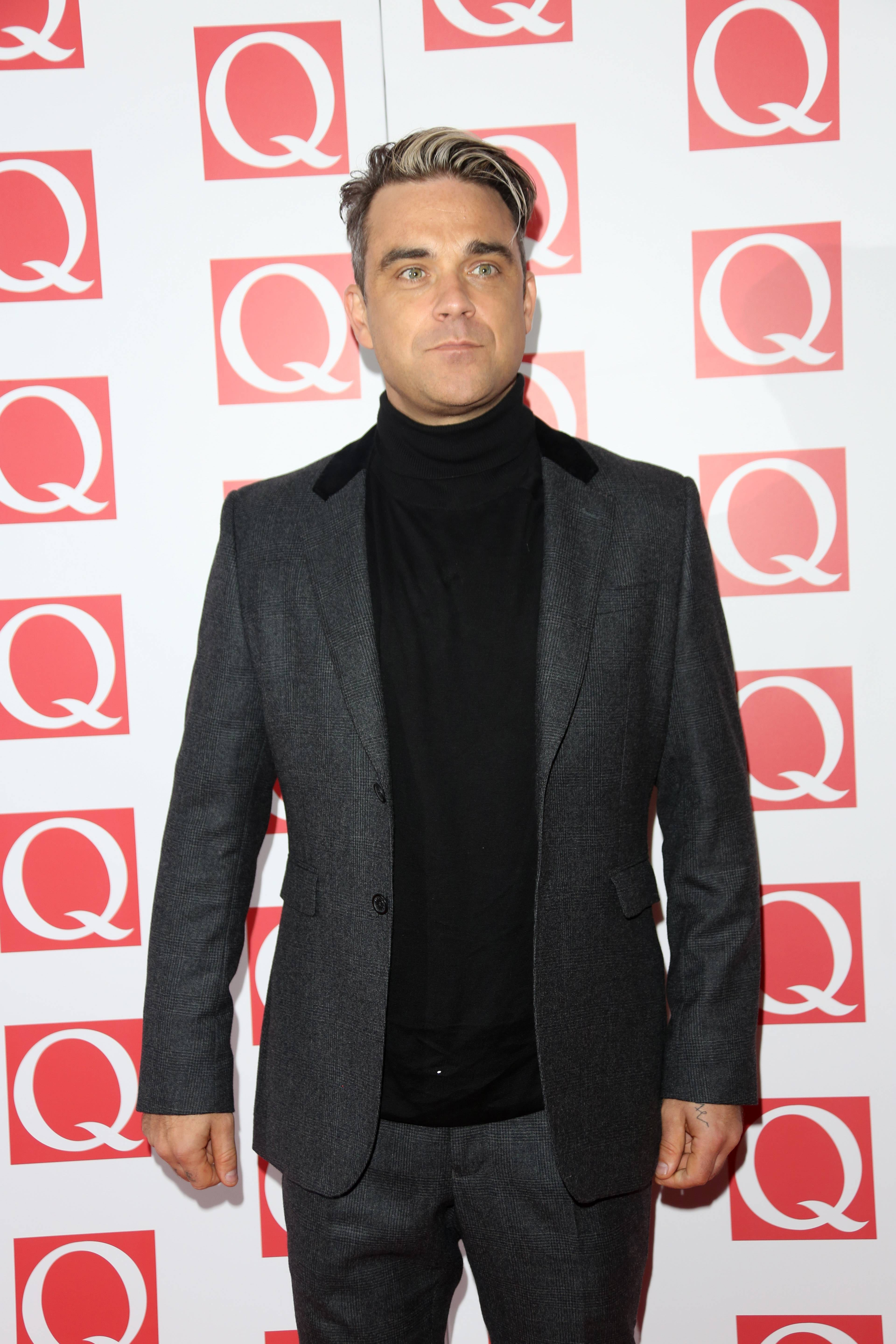 Robbie Williams na gali Q Awards 2013