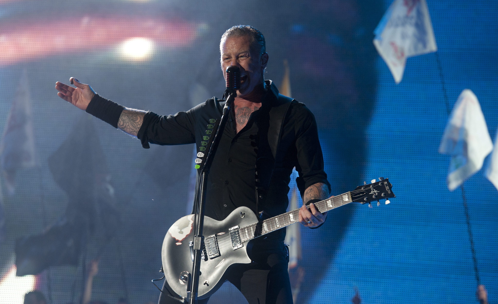 James Hetfield na Glastonbury Festival 2014