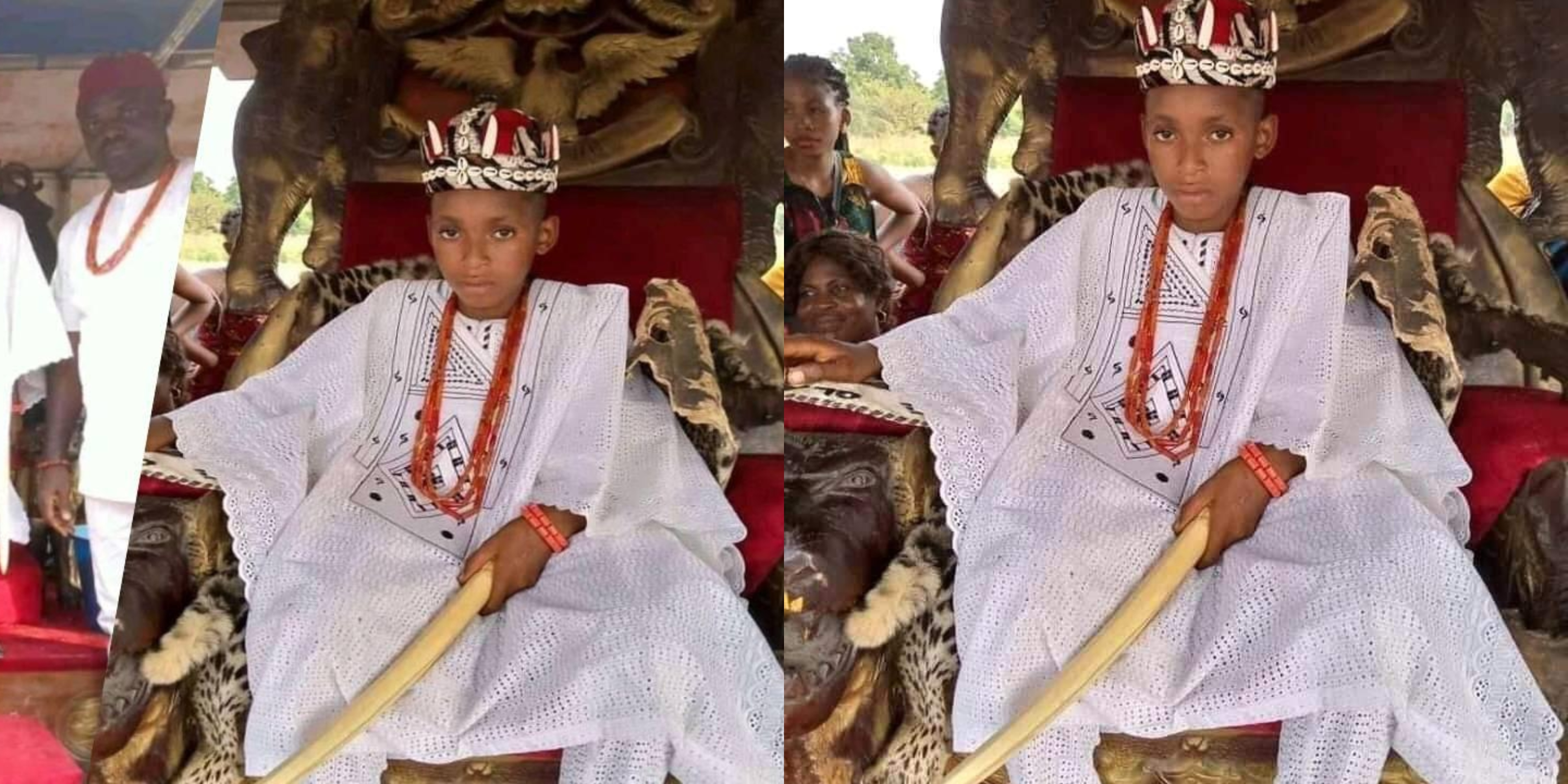 10-year-old boy crowned as king in Nigeria's Anambra state