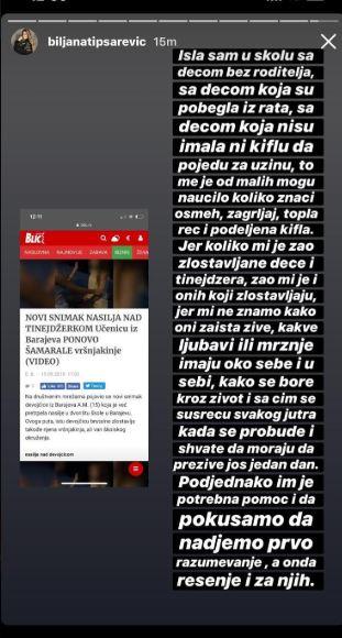 Biljana Tipsarević o vršnjačkom nasilju