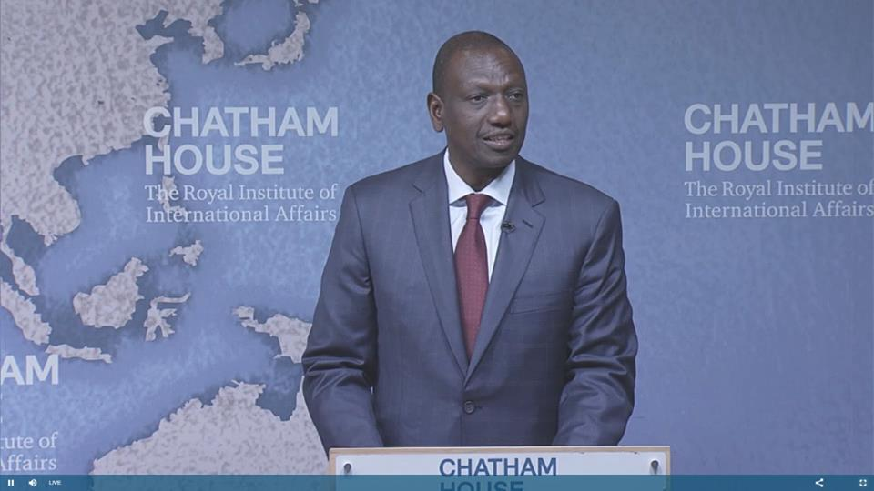 Image result for images of Ruto at Chatham house