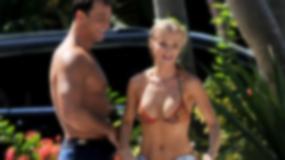 Seksowna Joanna Krupa myje samochód!