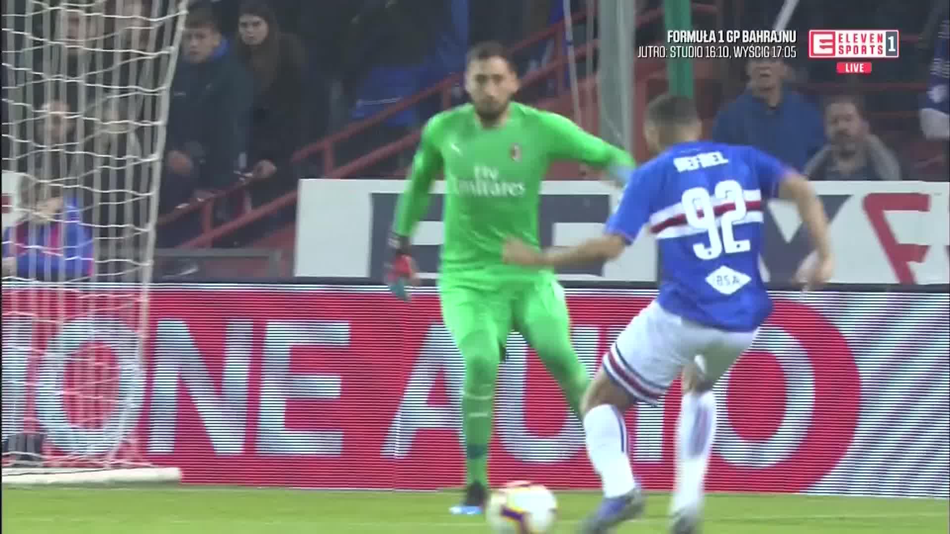 29e78f239 Sampdoria - AC Milan: gol Defrela, koszmarny błąd Donnarummy - Piłka nożna