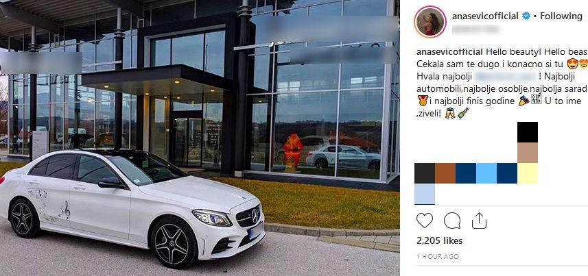 Ana Sević ima novi automobil