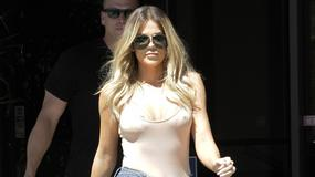 Khloe Kardashian z odważnym dekoltem