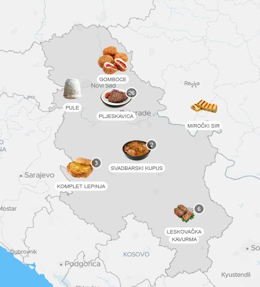 Gastro mapa Srbije