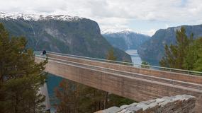 Stegastein – platforma widokowa wśród fiordów Norwegii