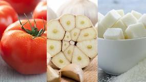 Zaskakujące właściwości 11 popularnych produktów, m.in. pomidorów, czosnku, cukru