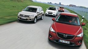 Mazda CX-5 kontra Ford Kuga, Hyundai ix35 i Volkswagen Tiguan: czy Mazda pokona konkurentów