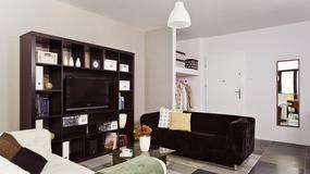 Czerń, biel i szarość w mieszkaniu