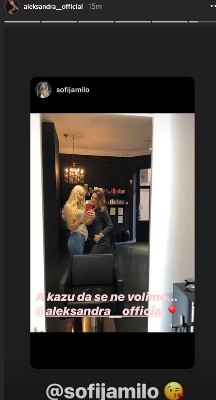 Aleksandra uzvratila Sofiji poljupcem