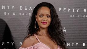 Rihanna na prezentacji własnych kosmetyków. Miało być seksownie, a wyszło w stylu spod remizy