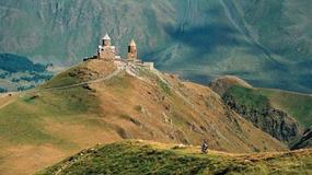 Gruzja - z rowerem na Kazbek