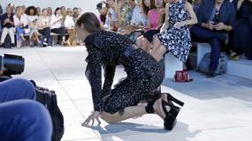 Bolesne upadki modelek na pokazach mody