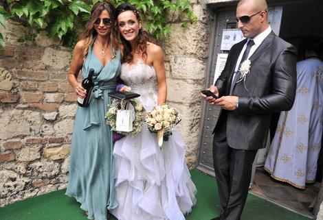 Slađa Delibašić i Milan Pejović na venčanju