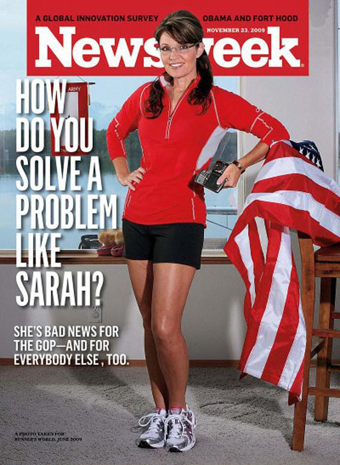 Sara Pejlin na naslovnici Newsweeka