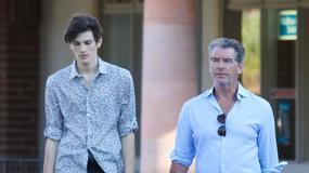 Pierce Brosnan ze swoim synem Dylanem