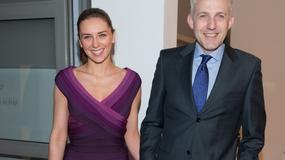 Hubert Urbański z żoną na premierze Astona Martina