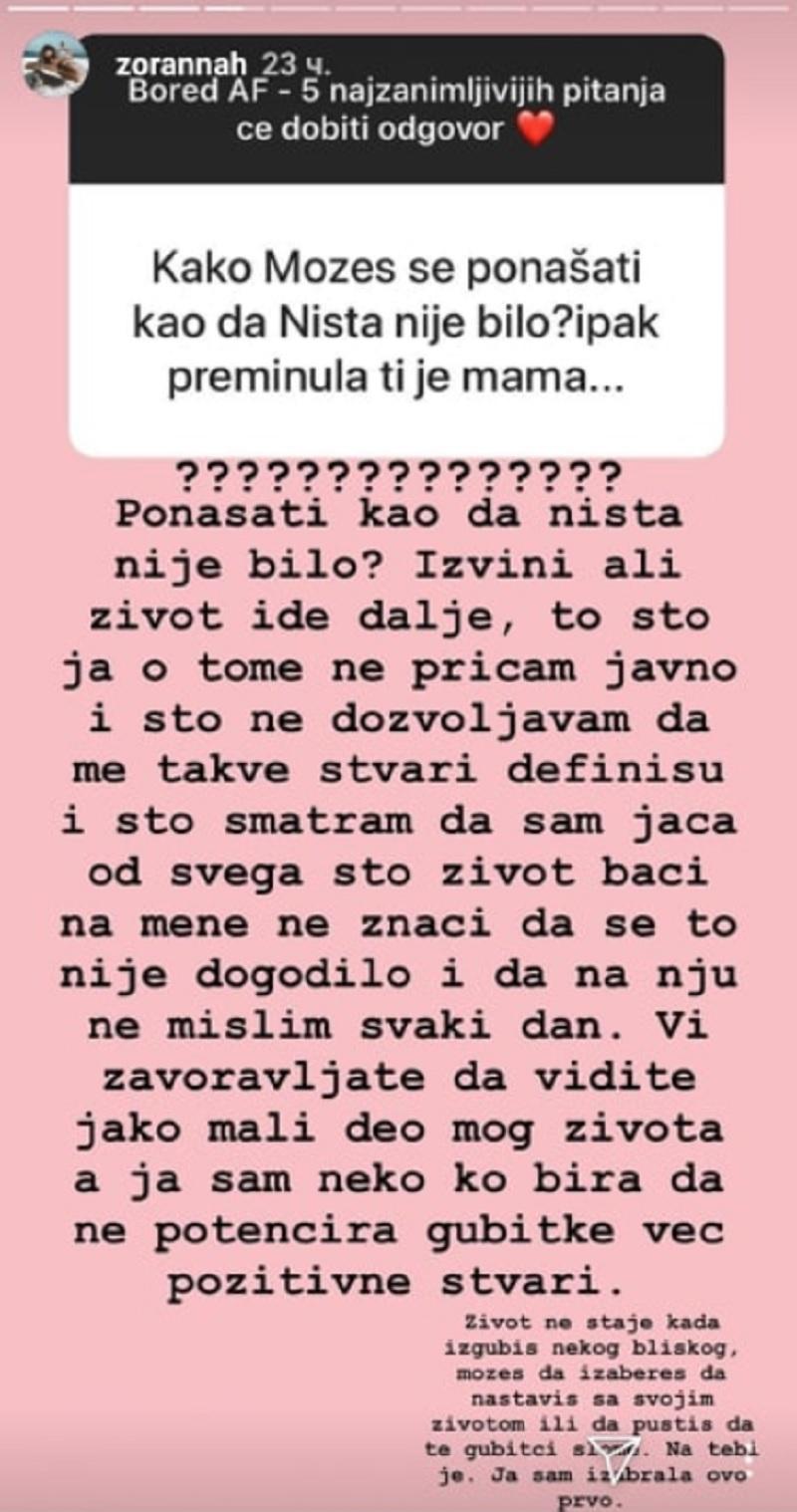 Pitanje postavljeno Zorani