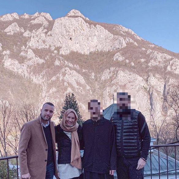 Bojana Ristivojević u poseti manastiru