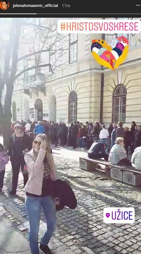 Jelena Tomašević u Užicu slavi Uskrs