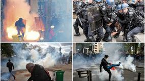 ŽESTOKI SUKOBI U PARIZU Policija hapsi demonstrante i tera ih suzavcem, lete flaše i komadi kaldrme