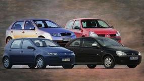 Fiat Punto II, Opel Corsa C, Renault Clio II i Skoda Fabia I – Małe auta za małe pieniądze