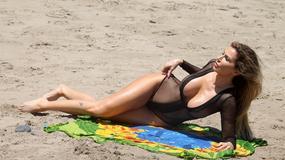 Ana Braga w gorącej sesji na plaży