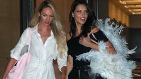 Adriana Lima i Candice Swanepoel odsłaniają ciało w drodze na przymiarki do pokazu Victoria's Secret