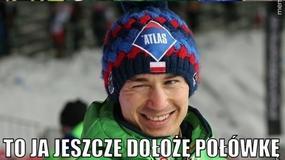 Polacy na podium konkursu PŚ w Planicy, rekord skoczni Stocha - memy