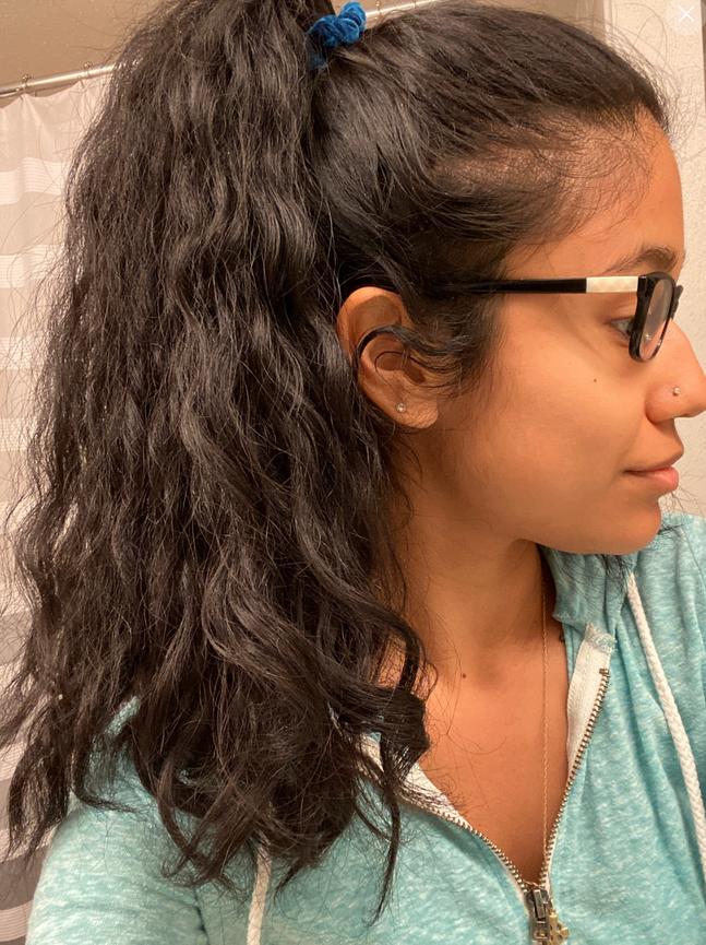 Kosa nakon što je proredila pranje