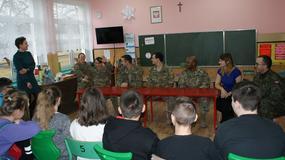 Amerykańscy żołnierze odwiedzili szkołę w Żaganiu