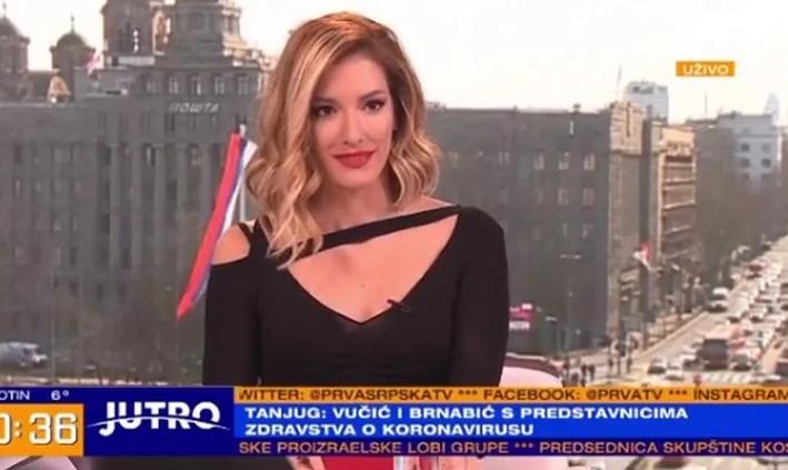 Jovana Joksimović uvek blista u Jutarnjem programu, a evo kako izgleda u bekstejdžu seta za snimanje muževljevog filma!