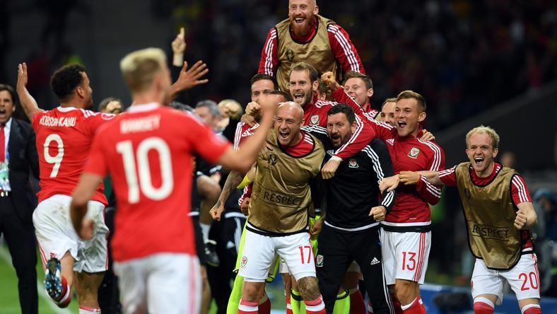 Walesi öröm, elődöntős az Eb-újonc / Fotó: AFP