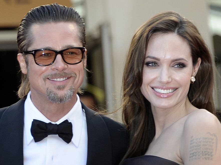 "Angelina Jolie i Brad Pitt na pokazie filmu ""The Tree of Life"