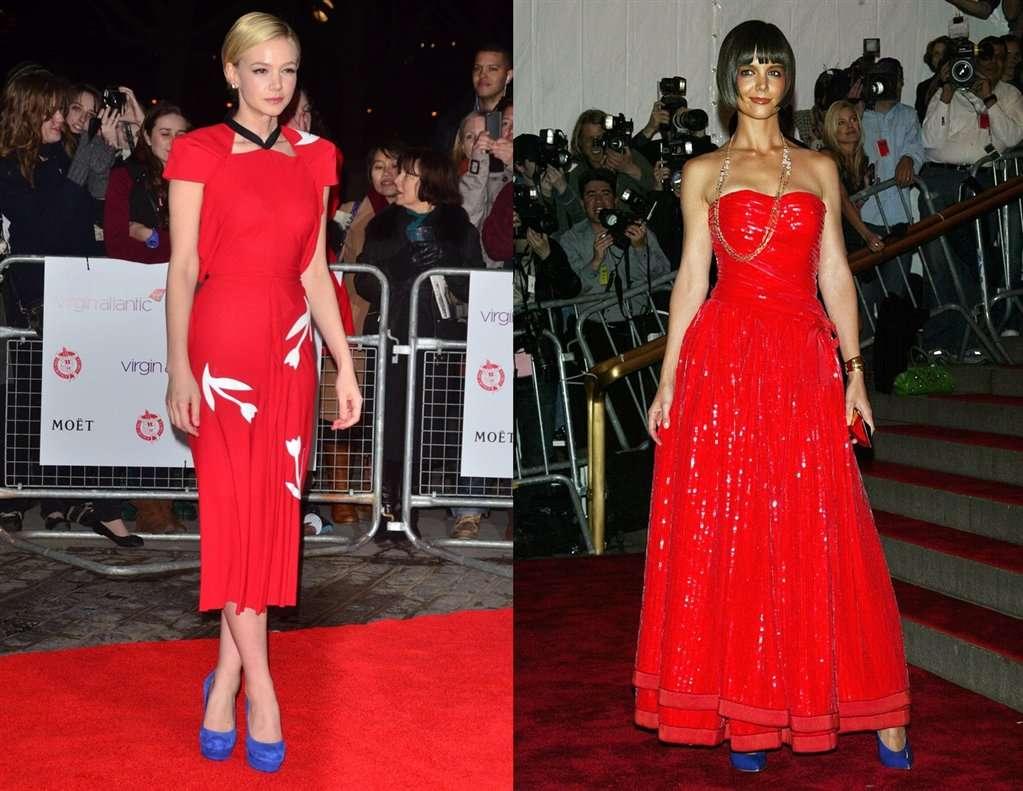 Hmm Niebieskie Buty I Czerwona Sukienka