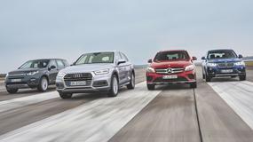 Audi Q5 kontra BMW X3, Land Rover Discovery Sport i Mercedes GLC - który z tych modeli okazał się lepszy?