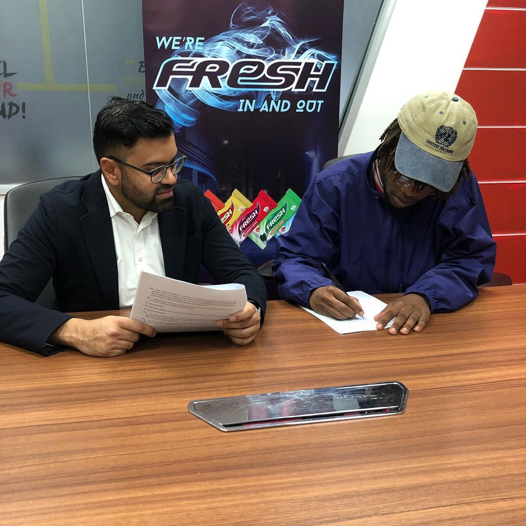 Mutahi Kagwe's rapper son Kahush lands first ambassadorial deal (Photos)